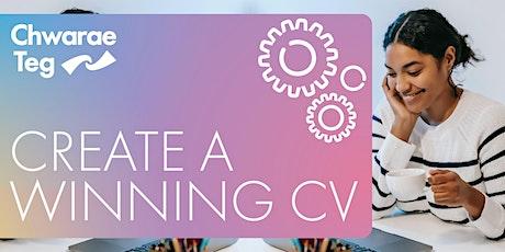 Create a winning CV webinar tickets