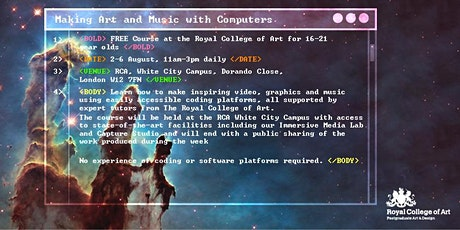 Making Art & Music with Computers tickets