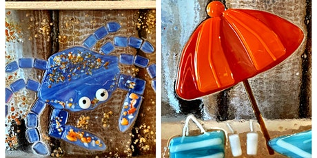 Crusty the  Crab or Beach Umbrella Fused Glass Workshop tickets