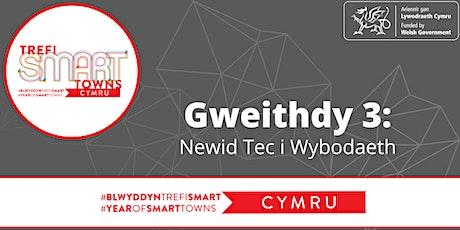 Gweithdy 3: Newid Tec i Wybodaeth tickets
