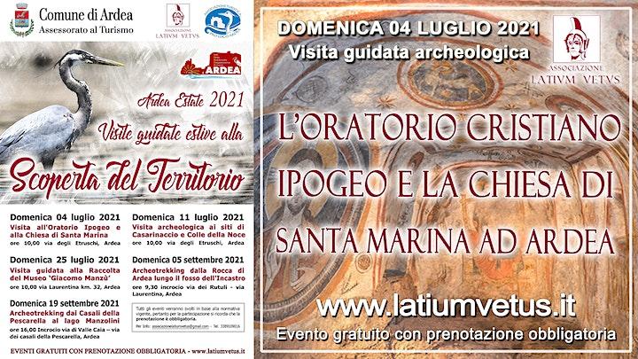Immagine Visita all'Oratorio Cristiano Ipogeo e alla chiesa di Santa Marina ad Ardea