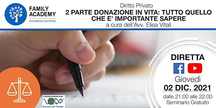 Immagine 2 PARTE DONAZIONE IN VITA: TUTTO QUELLO CHE E' IMPORTANTE SAPERE