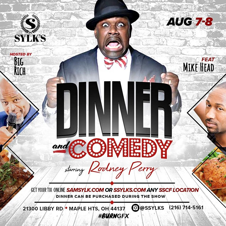 Dinner and Comedy Starring Rodney Perry image