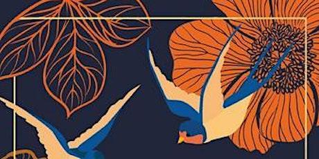 """Romanlesung:  """"Junge Frau, am Fenster stehend, Abendlicht, blaues Kleid"""" Tickets"""