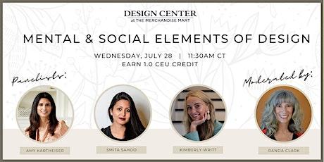 Mental & Social Elements of Design tickets