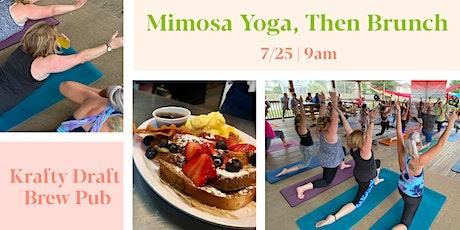 Mimosa Yoga, then Brunch   Krafty Draft tickets
