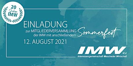 IMW-Mitgliederversammlung & IMW-Sommerfest 2021 Tickets
