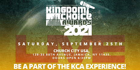 Kingdom Choice Awards 2021 - Global Live tickets