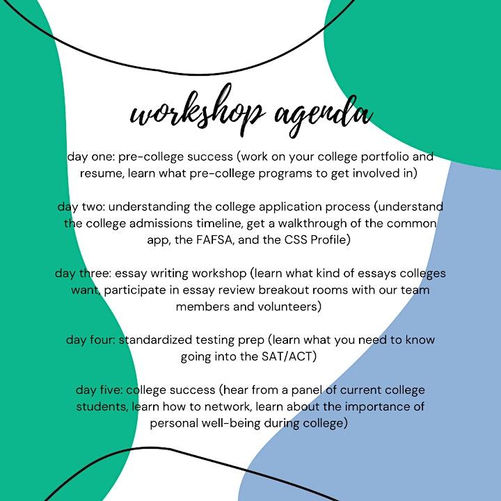 Summer College Prep Workshops | FREE!!! image