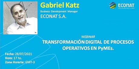 Transformación digital de procesos operativos en PyMES tickets