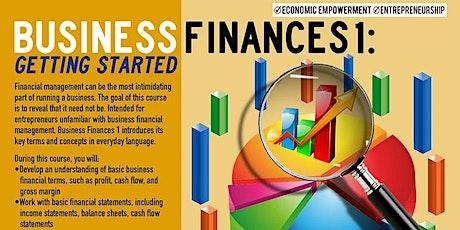 WEBINAR Business Finances 1: Getting Started, Upper Manhattan 8/3/2021 tickets