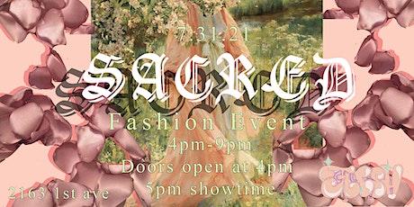 SACRED - Fashion show tickets