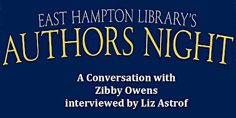 Authors Night  - A Conversation with Zibby Owens tickets