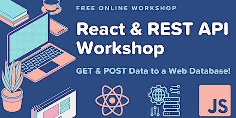 React & REST API: GET & POST to a Web Database! biglietti