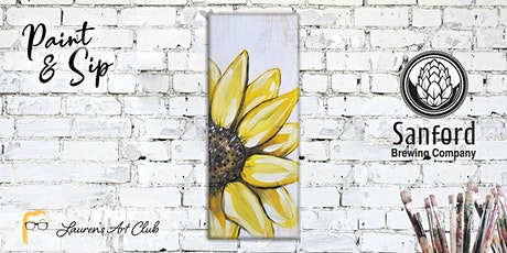 DIY Paint & Sip - Sanford Brewing Company - Sunflower on Wood tickets