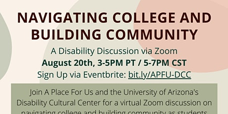 Navigating College & Building Community with a Disability tickets