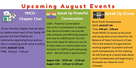 Youth MOVE CO - Speak Up Event - Powerful Conversation LGBT  Youth Services tickets