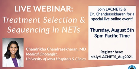 """Live Webinar: """"Treatment Selection & Sequencing in NETs"""" tickets"""