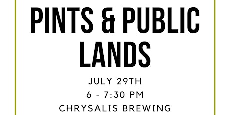 July Pints and Public Lands tickets
