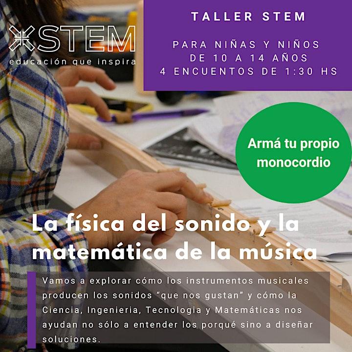 """Imagen de Taller STEM """"La Fisica del Sonido y la Matemática de la Música"""""""
