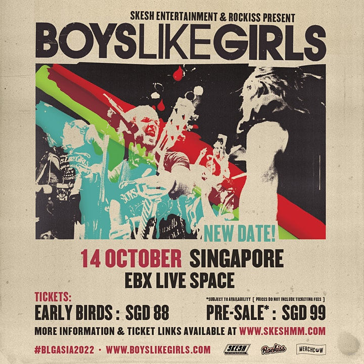 Boys Like Girls Live In Singapore 2022: Self Title image