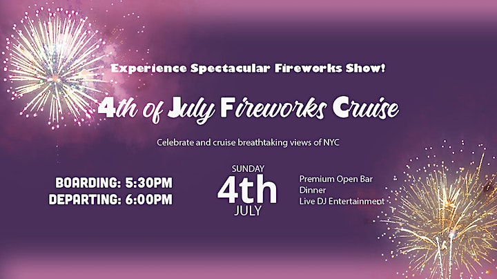 4th of July Boat Party NYC Fireworks Cruise Independence Day image