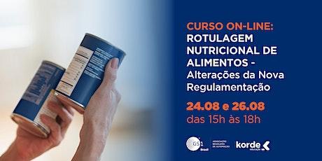 Curso Rotulagem Nutricional de Alimentos: Alterações da Nova Regulamentação ingressos