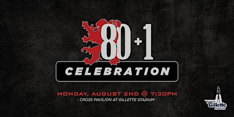 80 + 1 Celebration tickets