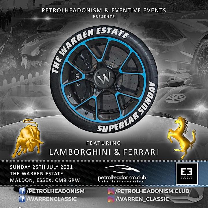 The Warren Estate Supercar Sunday featuring Lamborghini & Ferrari image