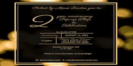 Picked by Marie's 2 Year Anniversary Pop-Shop & Celebration tickets
