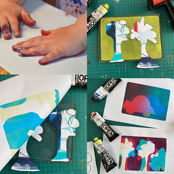 Art with Mollie Gel Printing Workshop for Children (at Crafty Nolo) image