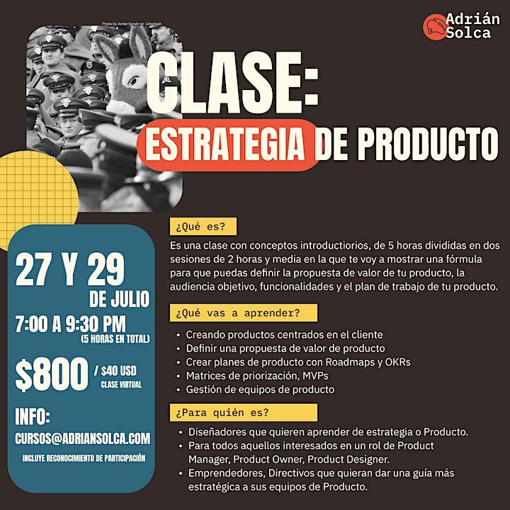 CLASE: Estrategia de producto image