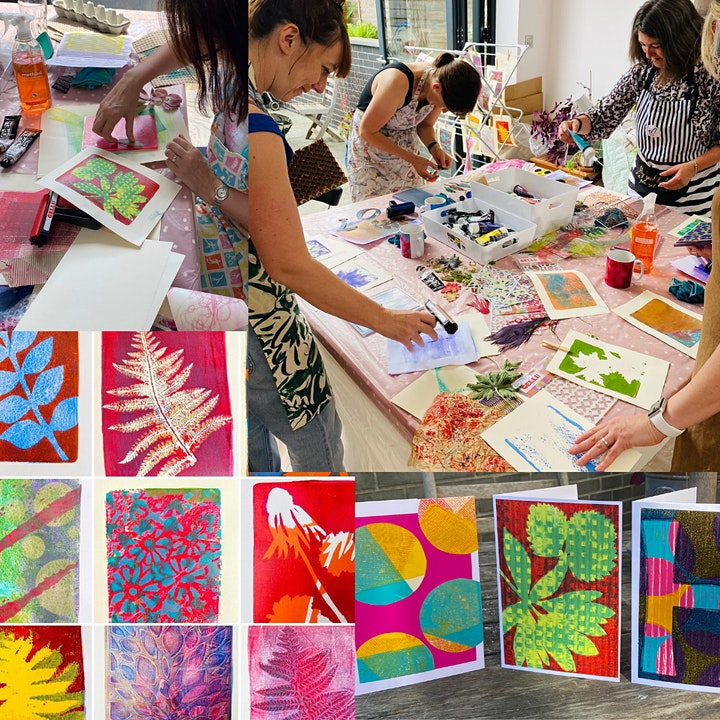 Art with Mollie Gel Printing Workshop for Adults (at Crafty Nolo) image