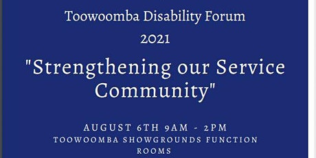 Toowoomba Disability Forum 2021 tickets