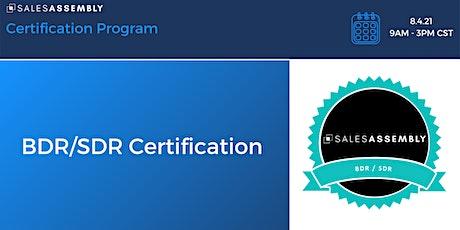 BDR/SDR Certification tickets
