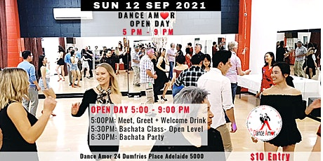 Bachata Class &  Dance Party - AmorOPEN DAY 12 Sep tickets