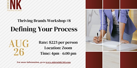 Thriving Brands Workshop: Defining Your Process tickets