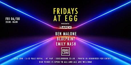 Fridays at EGG: Ben Malone Presents tickets