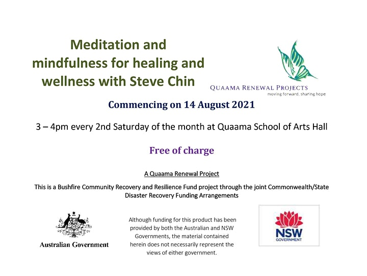Meditation and mindfulness for healing and wellness with Steve Chin image