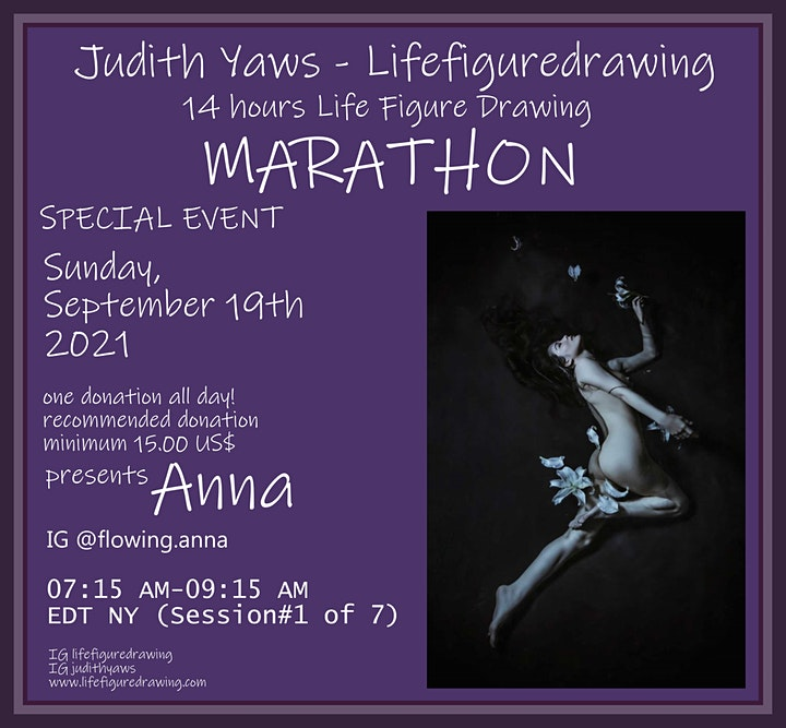 14 HOUR MARATHON Life drawing Session  / 7 Models - one Donation image