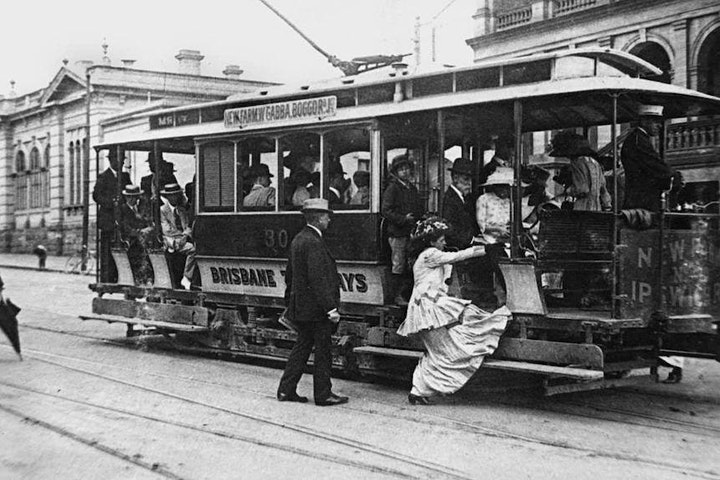 Brisbane trams and their contribution to Brisbane's development image