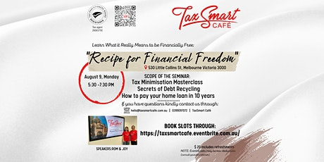 What it Really Means to be Financially Free: Recipe for Financial Freedom tickets