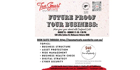Future Proof Your Business: Plan your year ahead with TaxSmart Cafe tickets