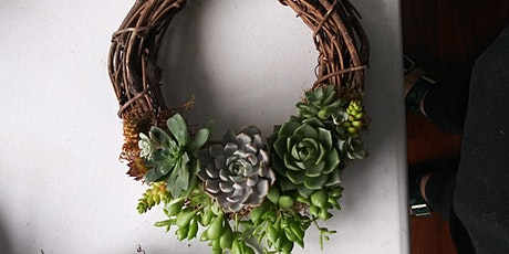 Succulent wreath workshop at ReRooted tickets
