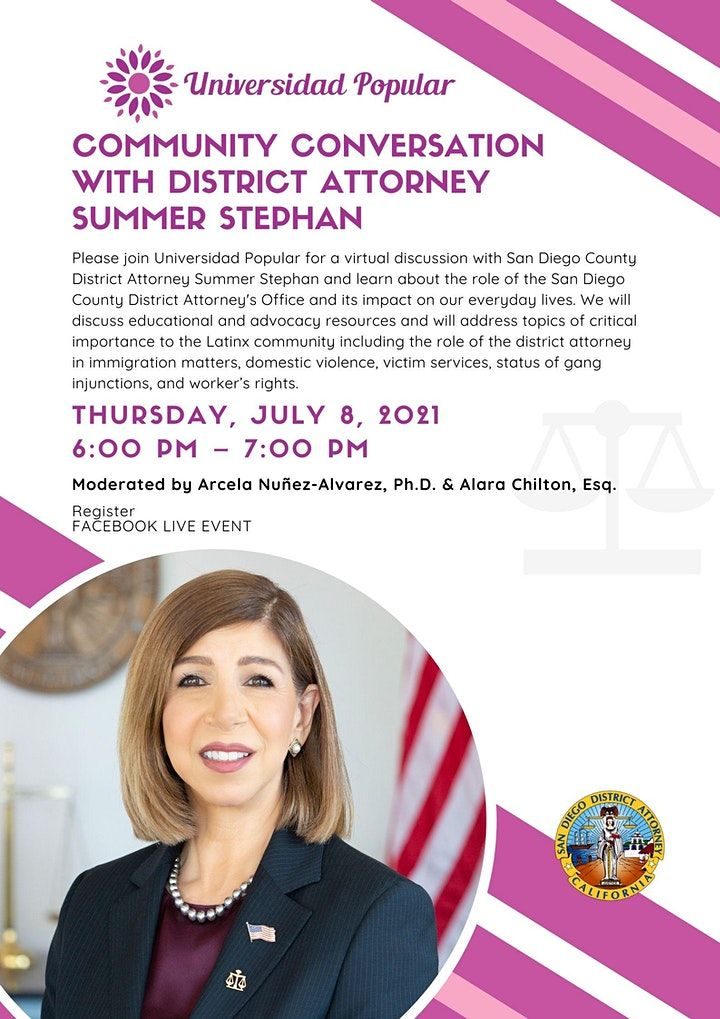 Community Conversation with District Attorney Summer Stephan image
