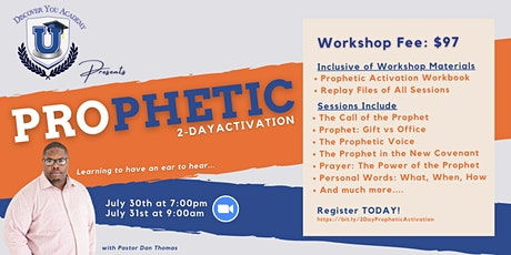 2-Day Prophetic Activation with Pastor Dan Thomas tickets