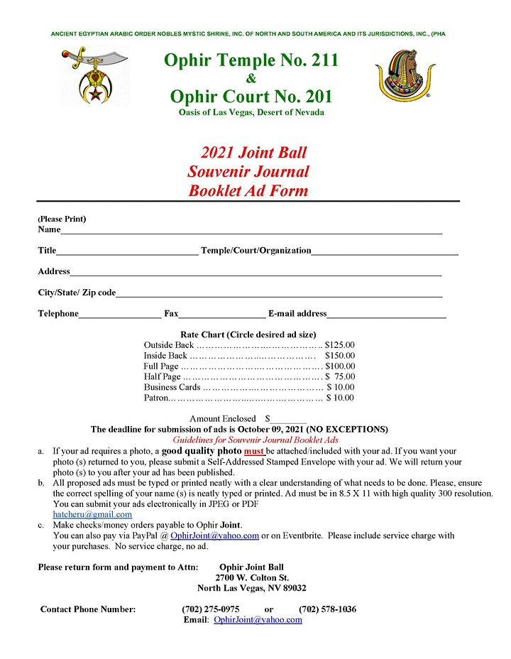 OPHIR JOINT ANNUAL BALL 2021 image