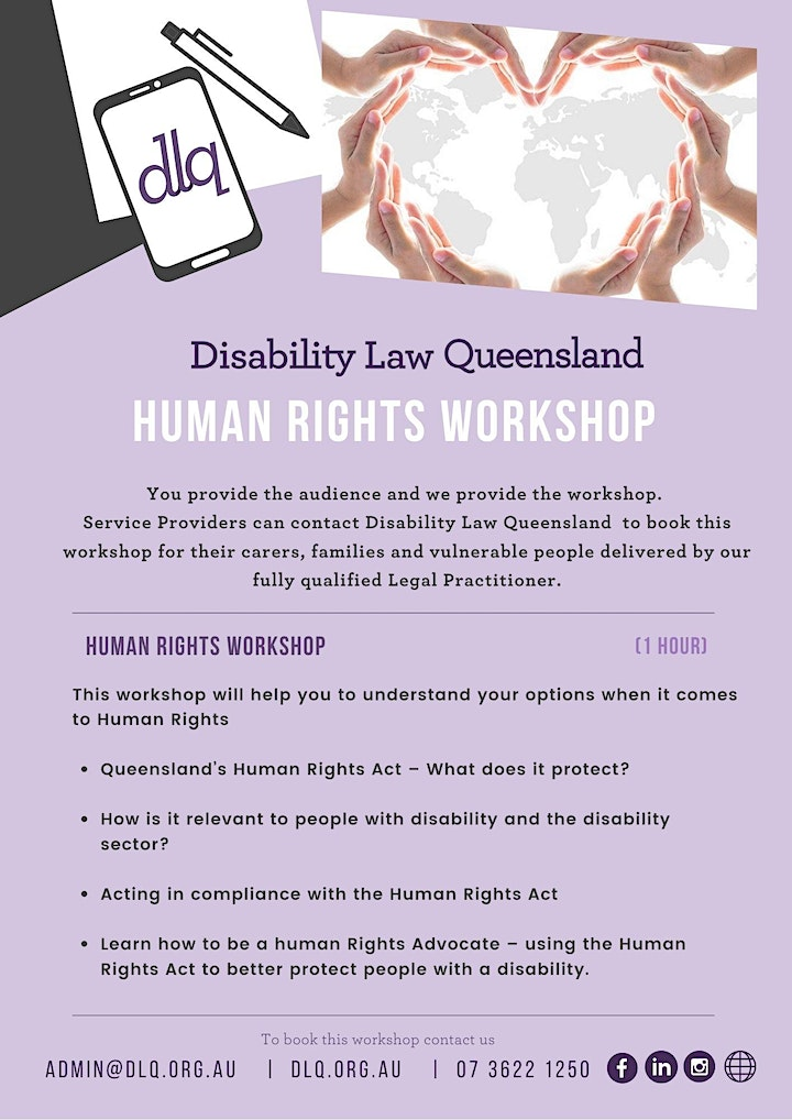 Disability Law Queensland - Human Rights Workshop image