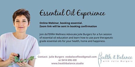 Essential Oil Experience overview tickets