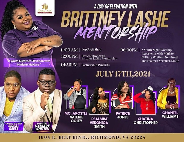 A Day of Elevation Entrepreneurship & Worship w/ Brittney Lashe Mentorship image